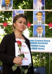 Vahideh Khorram en huelga de hambre en Ottawa (Foto: Samira Bouaou/The Epoch Times)