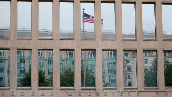 Vista del edificio federal Theodore Roosevelt, donde está la sede de la Office of Personnel Management (OPM) en Washington, 5 de junio 2015. (Foto: AFP/ Mark Wilson)